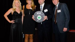 Kelly Frittenburg (sales) and Daniel Cooper (training director) accepted the No. 6 award for Freshii, which is growing aggressively not only in the U.S., but in Colombia, China, Sweden, Austria and Dubai.