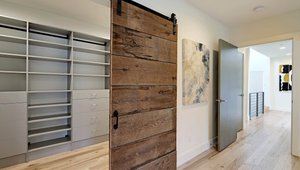 Sliding doors offer privacy in the single family home.
