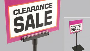 Display Unframed Signs Using a Variety of Shovel and Magnetic Bases