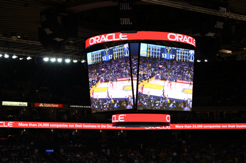 Toshiba delivers LED displays to Oracle Arena