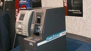 One of the functionalities Tranax Technologies showed on its MBS2500 platform was coin counting.