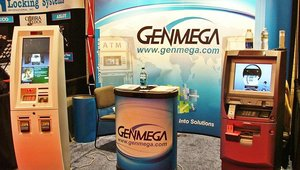 Genmega Inc. displays its range of kiosks at CETW.