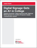 Digital Signage Gets an A+ in College