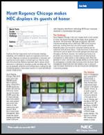 Hyatt Regency Chicago makes NEC displays its guests of honor