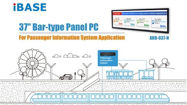 ARD-037-N Bar-type Panel PC for Passenger Information System Application