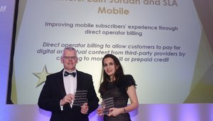 SLA Mobile and Zain win the Consumer Innovation Award at the Global Telecoms Business Innovation Awards 2015