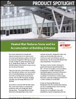 Heated Mat Reduces Snow and Ice Accumulation at Building Entrance