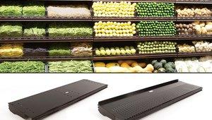 Boost shelving life and display appeal with new aluminum produce shelves
