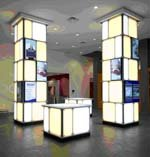 Architectural media integrates digital signage into the environment