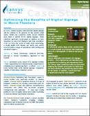 Optimizing the benefits of digital signage in movie theaters
