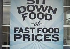 "Last fall, Captain D's updated its messaging to ""Sit down food at fast food prices,"" a campaign that has helped boost sales. ""We think it's the right message at the right time,"" said Captain D's CEO David Head&#46"