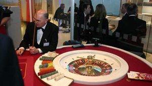 Wincor showed cash-management solutions, which included teller-assisted operations, in its casino dipslay.