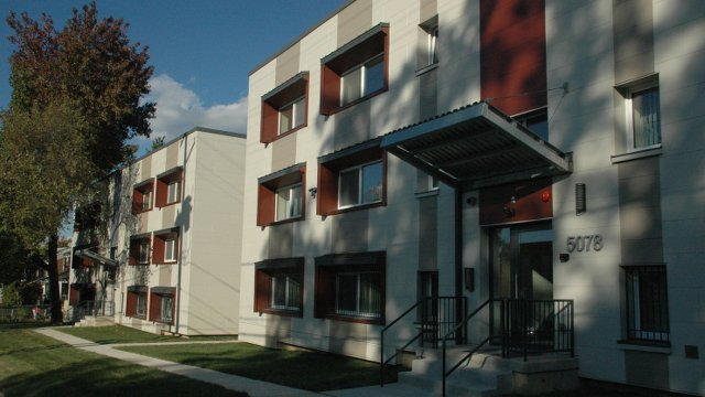 Retrofitted low-income housing meets Passive House standards
