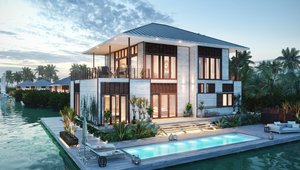 Developers chose to convert a number of larger villas to the one-bedroom solar cottages.