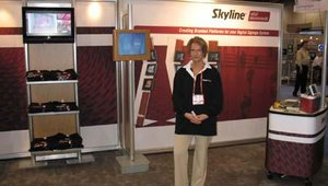 It takes more to make a good digital signage deployment than good digital signage. The deployer also needs to ensure that the signage is located in a good environment. That's the mission of Skyline Exhibits, a company that also had a booth at the show.