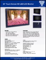 """24"""" Touch Screen HD LED/LCD Monitor Sell Sheet"""