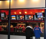 Denver Broncos mile-high on digital menu boards at Sports Authority Field
