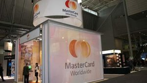 The MasterCard booth.