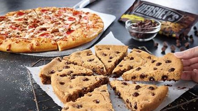 Pizza Hut adds 8-slice Hershey's chocolate chip cookie to dessert menu
