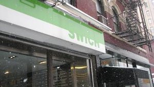 Outside Swich Pressed, the one-unit fast casual founded by CEO John Gargiulo. The restaurant is located on 8th Ave. in New York City and features a menu of pressed, panini-style sandwiches, soups and homemade potato chips.
