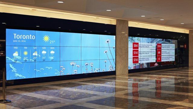 Huge Video Wall Installed In Toronto