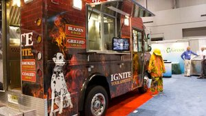 In addition to having a broad social marketing base, food trucks are also able to get creative with their designs and generate more of a buzz while they're out on the road.