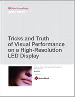 Tricks and Truth of Visual Performance on a High-Resolution LED Display