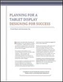 Planning for a Tablet Display - Designing for Success
