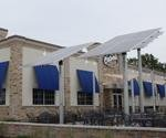One of the main green features at the new Culver's is its solar panels, which double as shades for the outdoor dining patio and supplement the electrical supply.