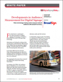 Developments in Audience Measurement for Digital Signage