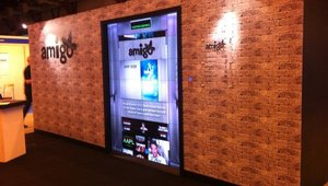 <p>Amigo Digital used 28 Christie MicroTiles to create a 'lift' (elevator) effect and show off Amigo's content creation.</p>