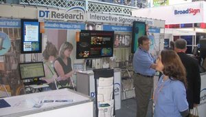 DT Research's WebDT signage system was on display at the company's well-visited booth.