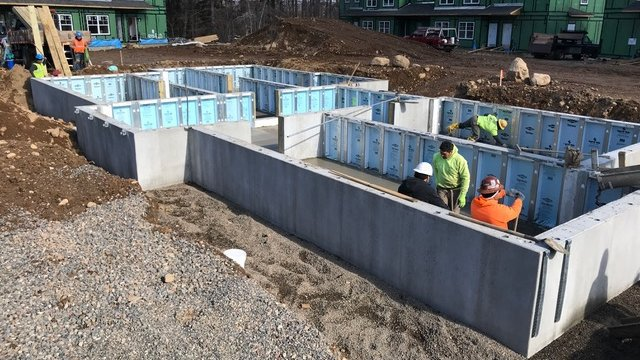 Precast concrete foundations start off affordable housing project