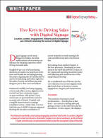 Five Keys to Driving Sales with Digital Signage