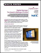 Digital Signage: The Need to Manage Content
