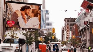 Valentine's Day video proposals delivered to your door with digital signage