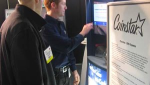 As part of the SuperStar deployments booth, Coinstar demonstrated its Coins to Cash Kiosk, which allows users to change in coinage for cash.