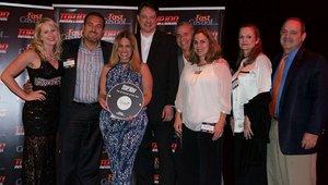 <p>The Giardino crew celebrates the chain's Top 100 award.</p>