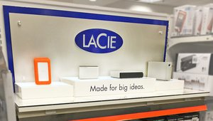 LaCie debuts new high-tech products via in-line displays in retail