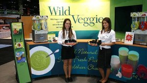 Wild Veggies made its debut at the show with four vegetable-based, frozen products that can be served hot or cold, as beverages or parts of soup or other recipes. Currently, broccoli, cauliflower, edamame and red bell peppers are available.