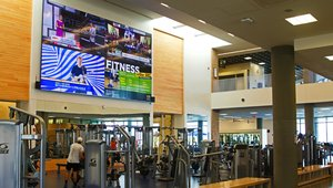 Students stay plugged in with digital signage at UC Riverside