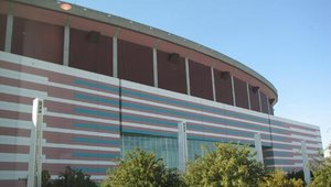 The Georgia World Congress Center is located next to the Georgia Dome, home of the NFL's Atlanta Falcons.
