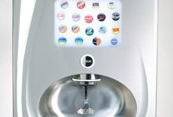 The Freestyle features a touch screen user interface that allows customers to choose from more than 100 Coca-Cola branded drinks. Choices include water, juice, tea and carbonated beverages.