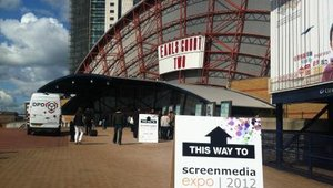 Digital signage on cabs and loos at Screenmedia Expo 2012