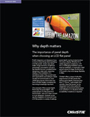 Why depth matters: The importance of panel depth when choosing an LCD flat panel