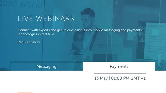 Register for live m-payments and messaging webinars!
