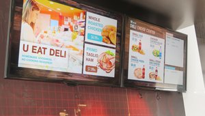 <p>A number of companies at the Big Show displayed digital screens that are meant for restaurants. </p>