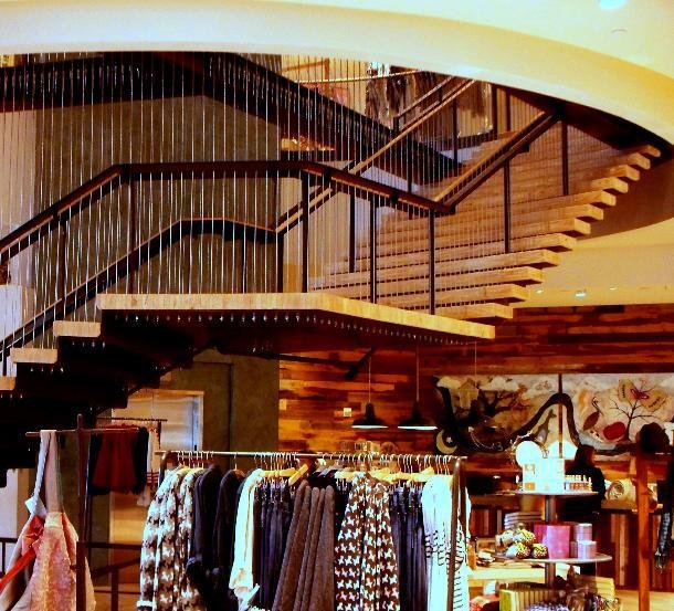 new orleans anthropologie features modern suspended stair