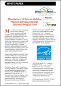 Manufacturer of Exterior Building Products Introduces Energy-Efficient Fiberglass Door