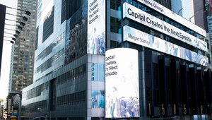 Morgan Stanley invests in data visualization in Times Square